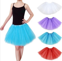Wholesale White Pettiskirt Women - Fashion 17 color dance Costume Ball gown Christmas Party stage wear Dresses Women Girl Tutu Ballet Dancewea Bubble Skirts Pettiskirt