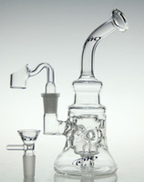 Wholesale Diamonds Nails - New scientific-glass bong !glass recycler new glass bong oil rig diamond glass pipe with quartz nail and bowl