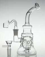 elmas bong kase toptan satış-Yeni bilimsel-cam bong! Cam recycler yeni cam bong petrol rig elmas cam boru ile kuvars tırnak ve kase
