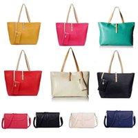 Wholesale Design Ladies Bag Totes Handbag - Fashion Buckle Simple Women Bag Vintage Ladies Big Lady Bags Design Messenger Shoulder Bags Shopping Handbag