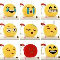 Wholesale hand warmer pillow - New 25 styles Hot sale emoji funny Expression pillow Warm hand dolls cute Plush toy IA745