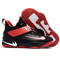 Besondere Sneakers Kaufen -LebRon 11 Schuhe Soldiers XV Training Männer Frauen Basketball Special Edition Schuhe Sport Trainer Schuh Athletic Outdoor Sneakers Schwarz Rot Yell