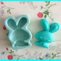 Wholesale Silicone Rabbit Molds - Cartoon bunny rabbit animal Handmade natural soap mold silicone molds form for soap wholesale