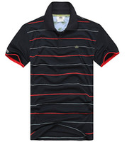 Wholesale Men S Red Stripe Shirt - Summer New Brand Men's Stripe Polo Shirt For Men Polos Men Top Embroidery 100% Cotton Short Sleeve Shirt Jerseys Plus Size S-3XL