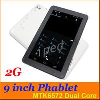 "Wholesale Tablet Flash Camera Gsm - Cheap N8000 B900 9"" 2G GSM Quad Band Phablet MTK6572 Dual Core Phone Tablet PC Android 4.4 512MB 4GB Dual Camera + flash light BT DHL 30pcs"