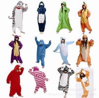 Wholesale Cartoon Onesies For Men - Winter Unisex Man Women Sleepwear Pajamas Panda Pikachu Cartoon Nightwear Cosplay Costumes Animal Onesies For Adults 65 Styles