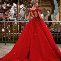ingrosso abiti da sposa brillanti-Abiti da sposa luminosi Abiti da sposa maniche lunghe Abiti da sposa vintage Saudi Africa Luxury Illusion Indietro Plus Size Vestidos De Novia