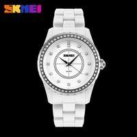 Wholesale Pc Wrist Watch - Original SKMEI 1159 Beautiful Women's Girl Rhinestone Waterproof PC band Quartz Fashion Wrist watch