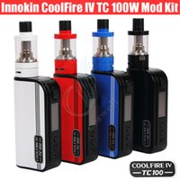 Wholesale Fire Silicon - Authentic Innokin Coolfire IV TC 100 Kit 3ml iSub V Tank Cool Fire 4 TC100 100W Mod Battery 3300mah Aethon Chipset vapor mod e cigs Kits DHL