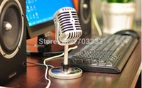 Wholesale Personalized Microphones - Free shipping Microphone Stereo Laptop Retro Classic Computer Microphone Vintage Microphone Personalized Wholesale 50 pcs lot