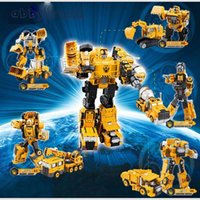 Wholesale Transformation Truck - Engineering Transportation Car Transformation Toy 2 in 1 Metal Alloy Construction Vehicle Truck Assembly Excavator Oyuncak