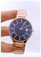 Wholesale Watch Couple Rose Gold - 2016 New Men Women stainless steel watches high quality business watch luxury brand rose gold waterproof couple watches student table