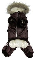 Wholesale Large Clothing China - Wholesale - Retail Brown New Coming Thick Warm Air Man Style Pet Dogs Winter Coat Free Shipping By china post 2013 new clothing for dog