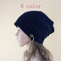 Wholesale Wholesale Christmas Stockings Embroidered - New kniting ski BEANIE SKULLS WOMEN HOT Solid HATS caps Solid color slouch cool thin chic spring Autumn winter sport in stock High-quality