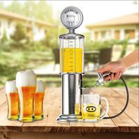 Wholesale Mini Gas Pump - New Mini Beer Dispenser Machine Drinking Vessels Single Gun Pump With Transparent Layer Design Gas Station Bar For Drinking Wine