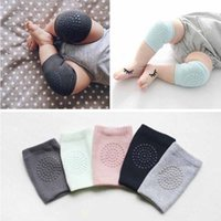 Wholesale Baby Legging Green - Wholesale-Safety Combed Cotton Baby Knee Pads Crawling Elbow Cushion Protector Baby Leg Warmers Baby Kneecap Anti Slip Knee Pads
