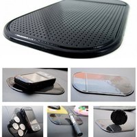 Wholesale Car Accessories Mats - Black Car Dashboard Sticky Pad Mat Anti Non Slip Gadget Mobile Phone GPS Holder Interior Items Accessories