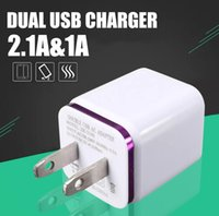 iphone cargadores de pared usa plug al por mayor-Enchufe de cargador de pared universal 1A eu usa Adaptador de corriente CA de 2 puertos USB doble 2 puertos para iphone 6 7 más samsung lg