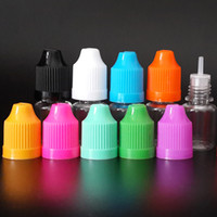 Wholesale 5ml Pet Clear Dropper Bottle - Needle bottle 5ml PET Clear Plastic Dropper Bottles with Childproof Caps and long thin tip for E liquid E juice via DHL