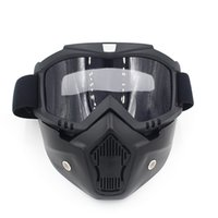 Airsoft Paintball Shooting Equipment Équipement de protection du visage Full Face Tactical PC Lens Tactical Motorcycle Mask NO03-309