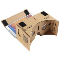 Wholesale Phone Toolkit - DIY Google Glasses Cardboard Mobile Phone Virtual Reality 3D Glasses Unofficial Cardboard Google Cardboard VR Toolkit 3D Glasses Free Shippi
