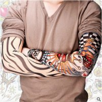 Wholesale Elbow Cuffs - Tattoo Cuffs Arms Sleeve Tattoo Seamless Men and Women Summer Sun Protection Gloves Sleeve Rope Racing Men's Ice Sleeves