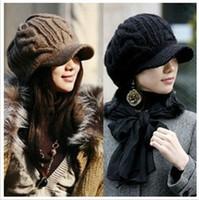 Wholesale Money Hats - The new 2016 qiu dong han edition earmuffs female money hat knitting hat cap Tide warm twist cap