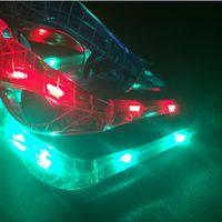 bolas de brilho led venda por atacado-LED Spiderman Óculos Piscando Óculos Light Party Glow Máscara de Natal Luz Da Noite Do Dia Das Bruxas para Dança traje de Aniversário bola Caçoa o presente