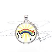 Wholesale Lesbian Sex Gifts - Wholesale- Hippie gay pride necklace same sex lgbt gay lesbian pride with rainbow love wins gift same sex marriage equal marriage jewelry