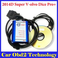 Wholesale Volvo Dice Free Shipping - 2014D Super Dice Pro+ Diagnostic Communication Equipment for Volvo With Multi-language + Carton Box by DHL Free Shipping