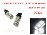 Wholesale 68 Smd Led 1157 - fog led driving lights 68 3528 SMD LED T20 992 7443 7440 Tail Car Light Bulb Lamp White 12V