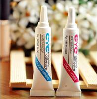 Wholesale False Good - Good Quality DUO Eye Lash Glue Clear White & black Makeup Adhesive Waterproof False Eyelashes Lady makeup tool eyelash glue free Ship