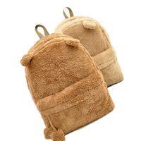 Wholesale Korean Laptop Bags For Women - Women Backpack Schoolbag Teenage Backpacks For Girls Cute Fur Korean Female Laptop Notebook School Large Bags Women Backpacks