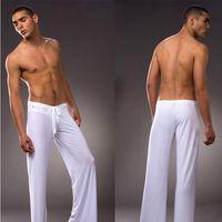 Wholesale men yoga pants sexy for sale - Group buy Brand New Modal autumn summer Men Sport Yoga Pants Sleep bottoms men sexy long underwear men sleepwear Pajamas