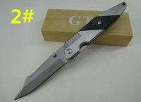 cuchillo de caza gtc al por mayor-Más nuevo recomendado GTC-F33 cabeza geométrica jockteleg cuchillo plegable que acampa caza cuchillo plegable cuchillo D2 1 unids envío gratis