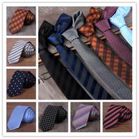 Wholesale Narrow Silk Ties - Men Polyester Neck Ties Flower Tie Men's Casual Solid kintted Narrow Design Flat-end Necktie Neck Ties 5