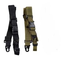 Wholesale Hunting Guns Gear - 3 Point Airsoft Hunting Belt Tactica Army Green Gear Gun Sling Strap Outdoor Camping Survival Sling ht088