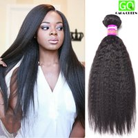 Wholesale Yaki Hair Prices - Wholesale Price Human Hair Extension 8A Brazilian Kinky Straight Weft Unprocessed Virgin Remy Hair Natural Color Yaki Straight Hair Weave