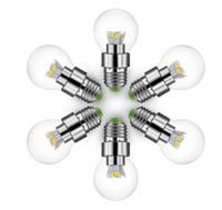 led-lichtstrahl glas groihandel-Großhandel E27 LED Globe Glühbirne 5 Watt Warme Kalte Weiß Aluminium Transparentes Glas 360D Breite Öffnungswinkel SMD5630 Bulbble Ball Lampe 85-265V