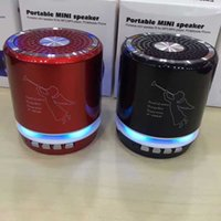 Wholesale metal computer stands for sale - Group buy T A Angel bluetooth Led Speakers USB Speaker computer phone MP3 player metal material