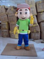 Wholesale Handy Manny Costume Mascot - Hot Sale New Handy Manny Mascot Costume Tool Boy Mascot Costume Free Shipping Accept Drop Shipping