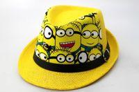 Wholesale Minion Hats Kids - 2016 Lovely Minions hip hop hat Gorras spider man bucket hats sport kids baseball caps Parent Children women men canvas snapback cap