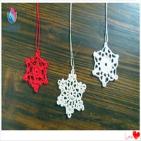 Wholesale Christmas Tree Ornaments Wholesale China - 50 pcs china lastest chinese products christmas decorative star by natual cotton crochet starts for chirstmas tree accessories for sale