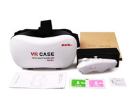 Wholesale Mobile Theater Glasses - New Cheap VR-BOX VR case With Gamepad 3D virtual realuty glasses mobile home theater 2016 VR Glasses Google Cardboard DHL Fast Shipping
