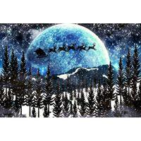 Wholesale Black Santa Ornaments - Santa Claus Winter Forest Full Drill DIY Mosaic Needlework Diamond Painting Embroidery Cross Stitch Craft Kit Wall Home Hanging Decor
