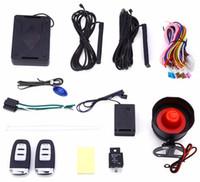 controles remotos de alarme de código venda por atacado-2016 New Arrivals EC001 Rolling Code Universal PKE Keyless Entry Sistema de Alarme de Carro Auto Bloqueio de Desbloqueio Remoto Central Kit