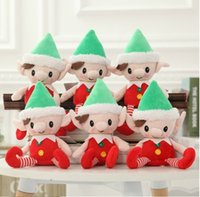NOVO Cute Christmas Doll Christmas Elf Tradition Kids Birthday 30cm Plush Toys Baby Soft stuffed doll Kids Gifts c209.