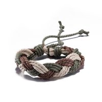 Wholesale Cheap Quality Braid - Vintage braided leather bracelet simple charm jewelry men and women high quality factory cheap wholesale free shipping H033