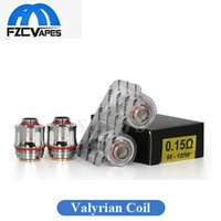 Wholesale Wholesale Fire - Authentic Uwell Valyrian Coil Head Replacement 0.15ohm Atomizer Core Fires 100W-120W Box Mod Newest Arrival 100% Original