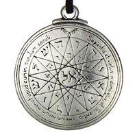 Wholesale Wiccan Pentacle - New Punk Amulet pendant Pentacle of Mercury Talisman Key of Solomon Seal Pendant Hermetic Enochian Kabbalah Pagan Wiccan Jewelry